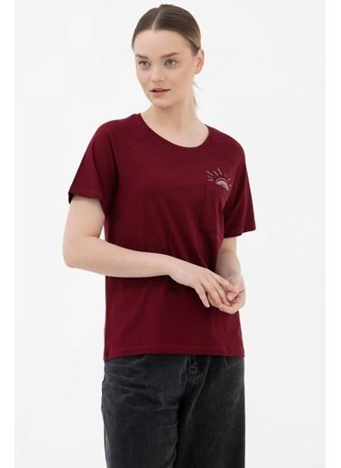 Sementa Cebi Nakış Detaylı Tshirt - Bordo Bordo